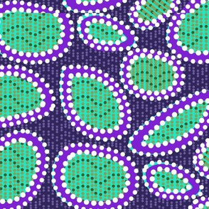 Geometric Tribal - Purple and Green