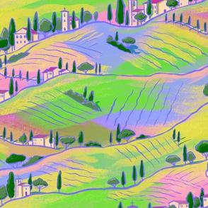Italian sunrise landscape