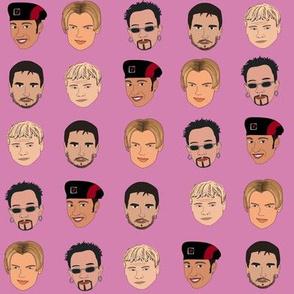 Boy band fabric, Kevin, AJ, Brian, Bowie, nick pop music - pink