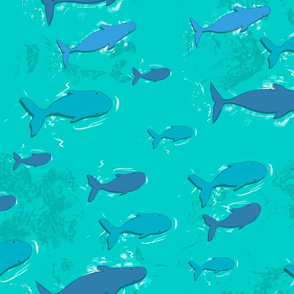 swim away - light blue