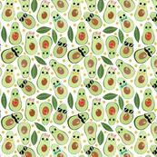 Stylish Avocados on White