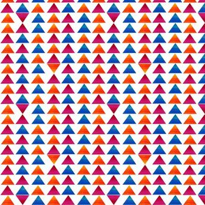 Rainbow Triangles - White Background