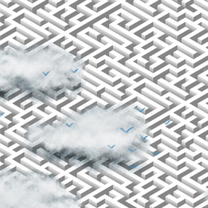 Maze with clouds