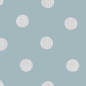 scandi dots on dusty teal