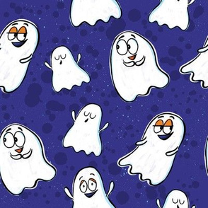 Cute Ghosts - blue