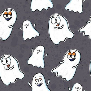 cute ghosts - gray