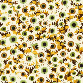 Sunflowers Abstract (white)
