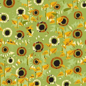 SunFlowers Abstract (Green )