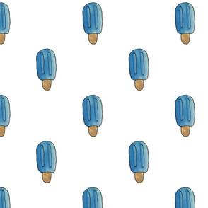 Blue Watercolor Popsicle