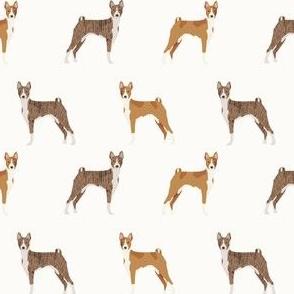basenji standing pure breed dog fabric cream