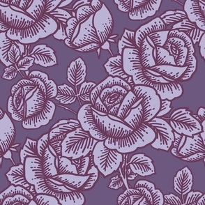 Vintage roses in grape