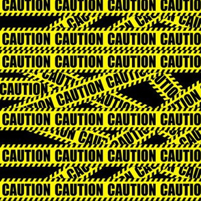 custom smaller caution barricade tape
