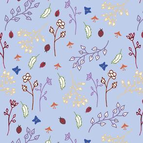 Blue Floral Texture