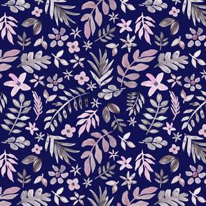 Soft Floral Blue Ground