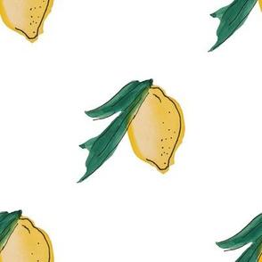 Big Watercolor Lemons