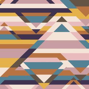 Broken Stripes-Desert Sunset
