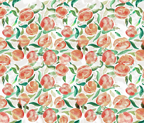 Watercolor Sweet Peaches fabric by jennifer_rizzo on Spoonflower - custom fabric