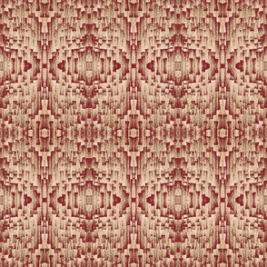 Brushstroke Weave Rose Blush and Deep Red