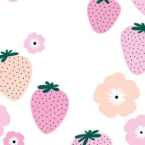 Summer strawberry garden white pink JUMBO