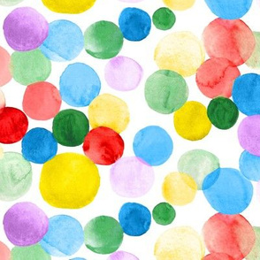 Watercolor Circles - Multicolor