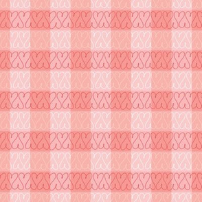 Heart doodles red gingham