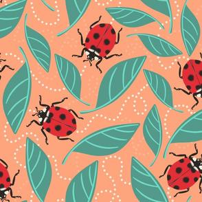 Ladybug Ladybug, where are you going? Large Scale Peach