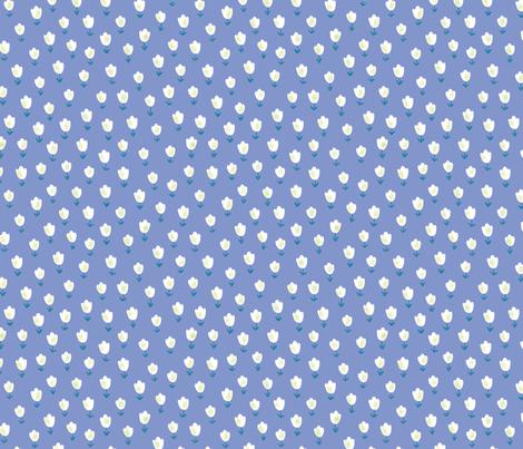 Ditsy Flower blue fabric by shereeboyd on Spoonflower - custom fabric