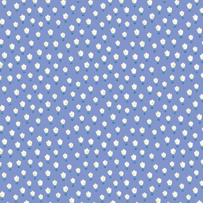 Ditsy Flower blue