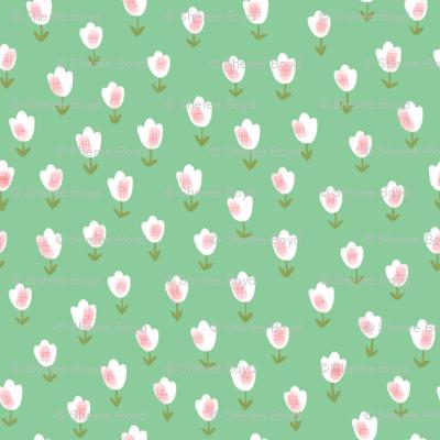Ditsy Flower green