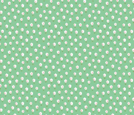 Ditsy Flower green fabric by shereeboyd on Spoonflower - custom fabric