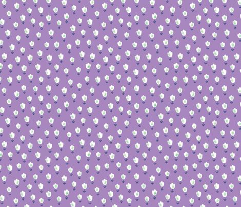 Ditsy Flower purple fabric by shereeboyd on Spoonflower - custom fabric
