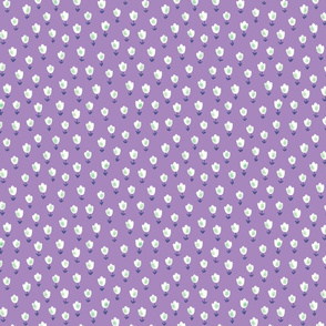 Ditsy Flower purple