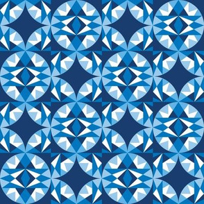 Blue-Shapes, Geometric