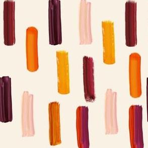 Autumn Brush Strokes // Ivory Linen