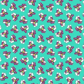(micro scale) roller skates - bright mint C19BS