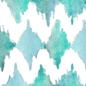 Painted Watercolor Design – Teal Aqua Mint, Large