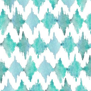 Painted Watercolor Design – Teal Aqua Mint, Small