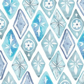 Watercolor Moroccan Pattern – Blue, Small