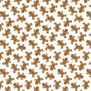 "(1/2"" scale) gingerbread man cookie toss - white C19BS"