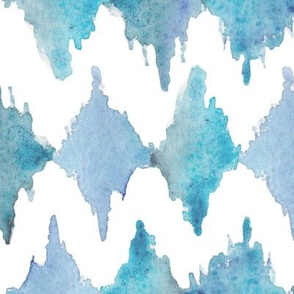 Painted Watercolor Design – Blue, Large