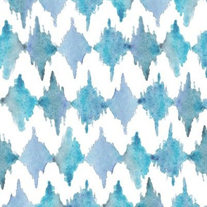 Painted Watercolor Design – Blue, Small