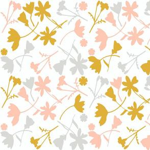 Blush n Goldenrod Wildflowers