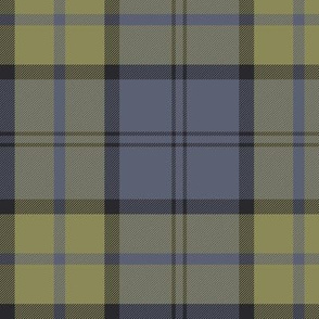 custom Dunbar tartan - slate and muted yellow