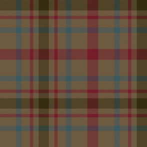 "MacDonagh tartan - 12"" muted with dark red"