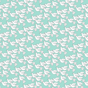 doves soaring  tiny mint