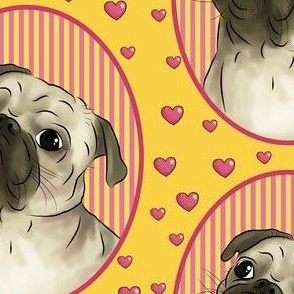 Love for pugs -orange big