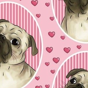 Love for pugs -pink big