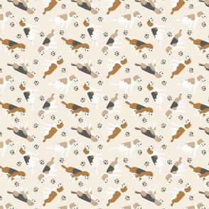 Tiny Beagles - tan