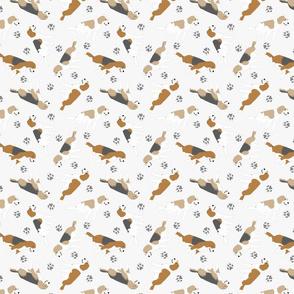 Tiny Beagles - gray