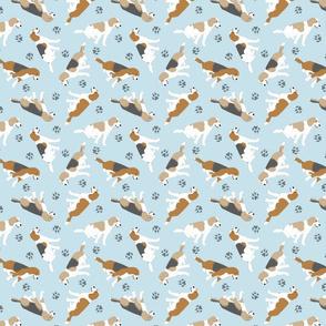 Tiny Beagles - blue